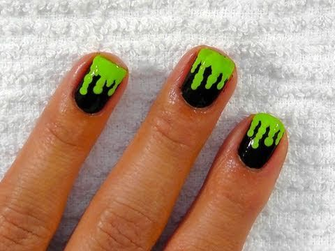 Green Slime Nails