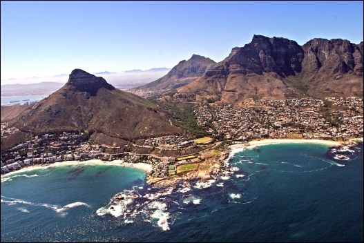 Aerial Camps Bay Clifton CAPE TOWN