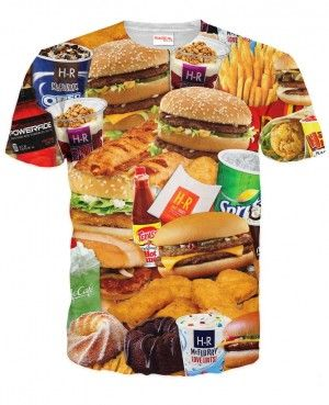 JUNK FAST FOOD Koszulka Tshirt Full Print