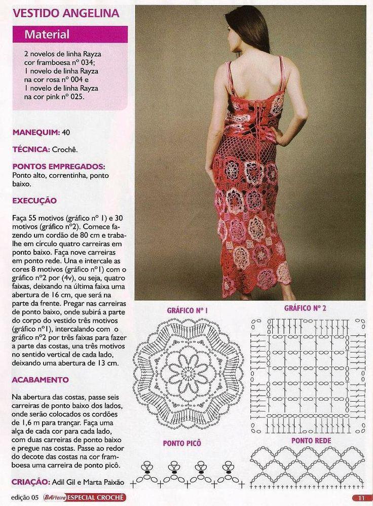 118 best Häkeln Kleid / Women crochet dress images on Pinterest ...