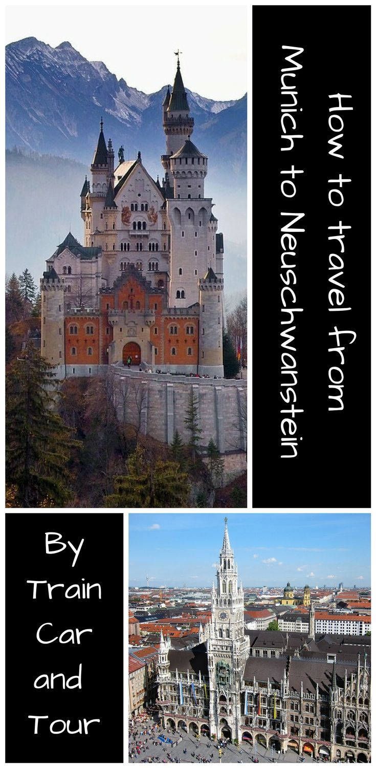 The worlds most famous castle sits at the edge of the Alps in Bavaria Germany. Munich is the closest major city and we have all the options for a day trip to the castle. | Day trips from Munich | How to get to Neuschwanstein | fairytale castle Germany | #familytravel #castles #fairytale #travel #travelblogger