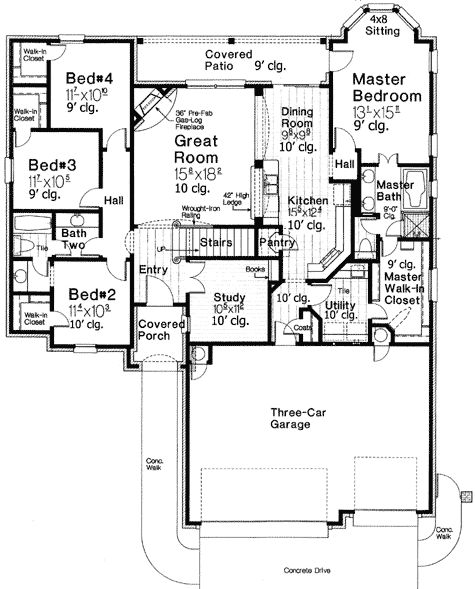 Well-Designed Home Plan - 48380FM | European, French Country, Traditional, 1st Floor Master Suite, Bonus Room, Butler Walk-in Pantry, CAD Available, Den-Office-Library-Study, Jack & Jill Bath, MBR Sitting Area, Media-Game-Home Theater, PDF, Split Bedrooms | Architectural Designs