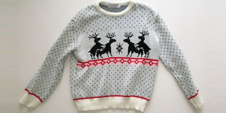 Lurking in the murky depths of many people's wardrobes is a colorful, brash and (in most cases) highly embarrassing novelty Christmas jumper which, were it...