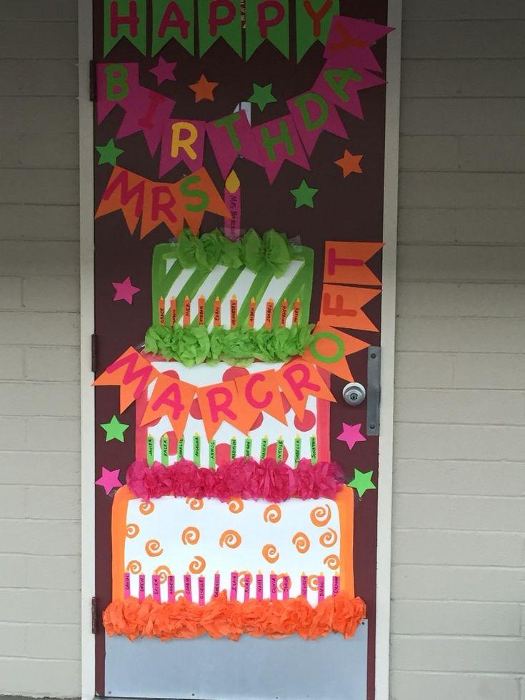 Door Decoration Ideas for Teachers Best Of Happy Birthday ...