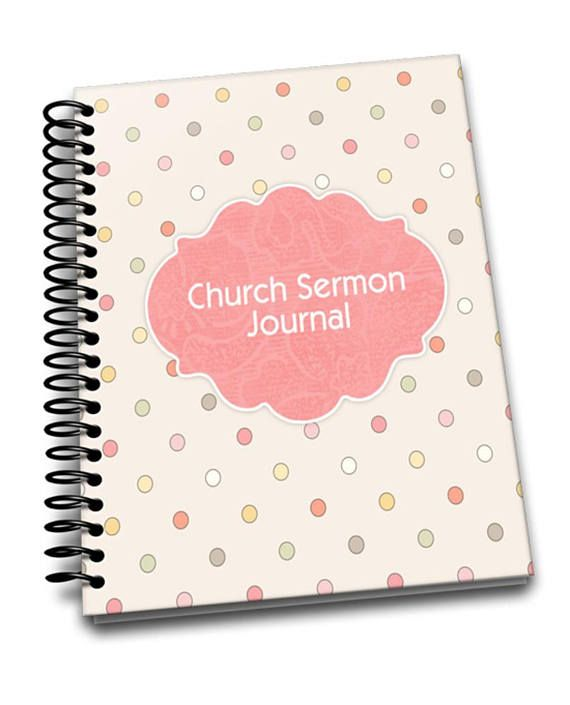 Dotty Weekly Sermon  Journal  8 x 10  Spiral Bound Notebook