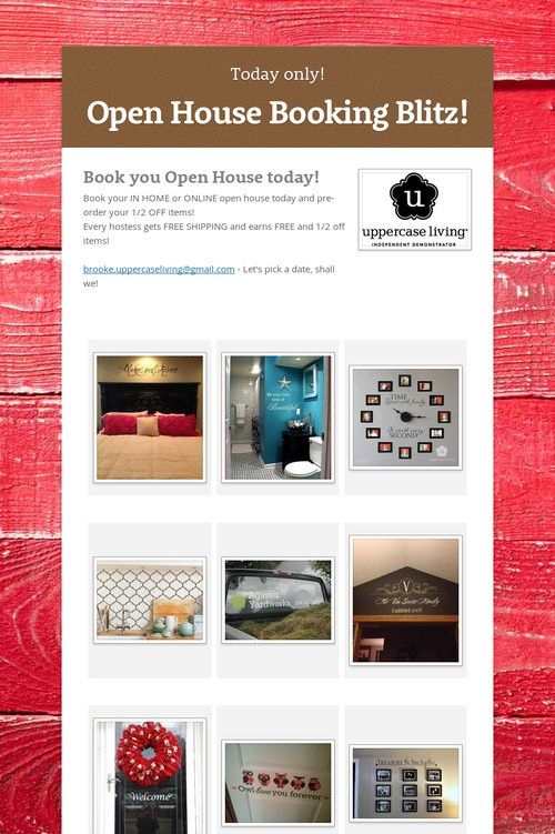 Open House Booking Blitz!  Today only! Online Open Houses and In Home (Hamilton, ON. and area)  brooke.uppercaseliving@gmail.com 866.982.0505