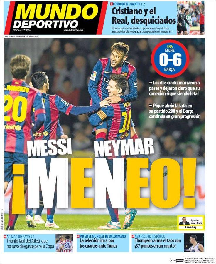 Portada Mundo Deportivo 25/1/2015
