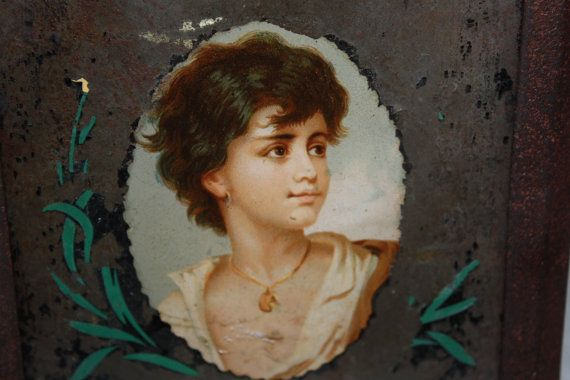 18th Century Antique Metal Bread Biscuit Box by VintagebyViola, $90.00  Must see, rare artwork