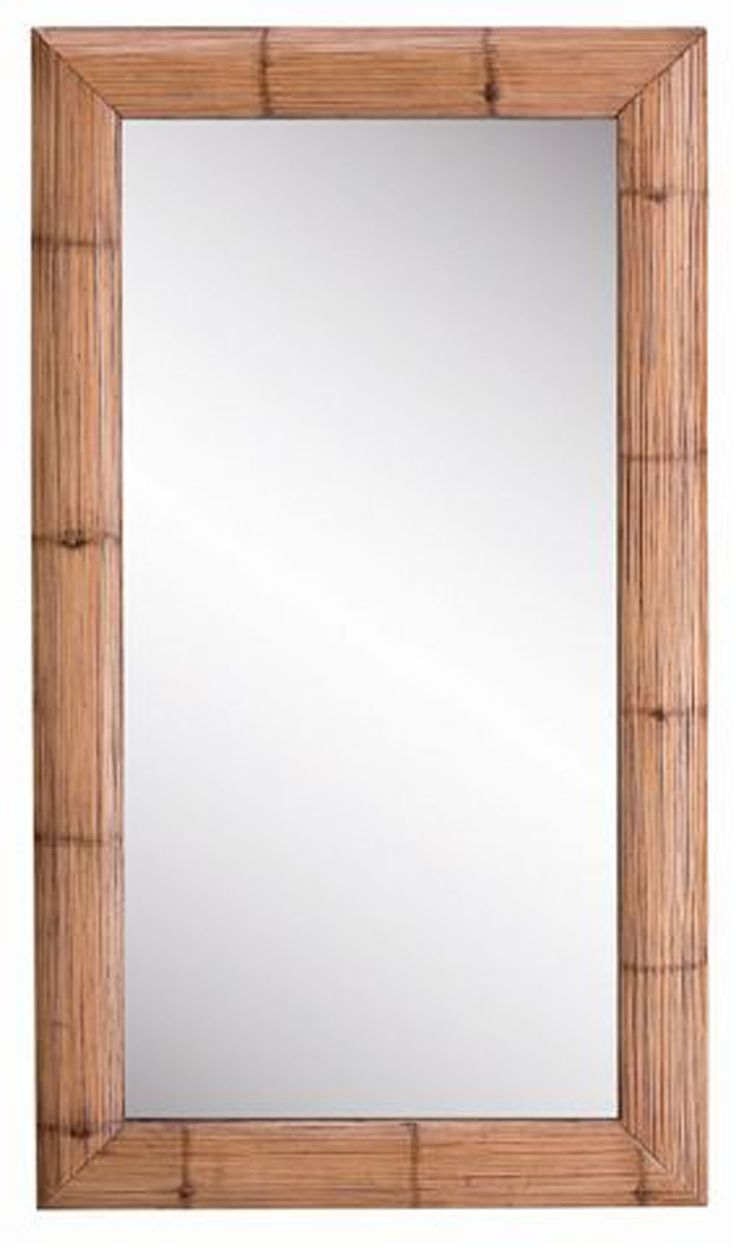 M s de 1000 ideas sobre espejo de bamb en pinterest - Espejo marco blanco ...