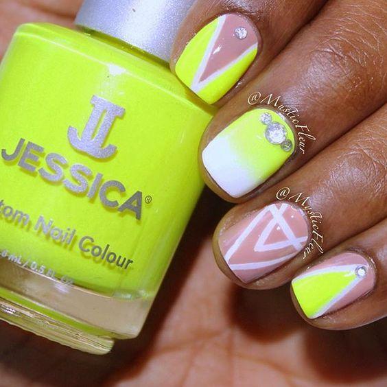 82 mejores imágenes de Neon Nail Art Ideas en Pinterest | Uñas de ...