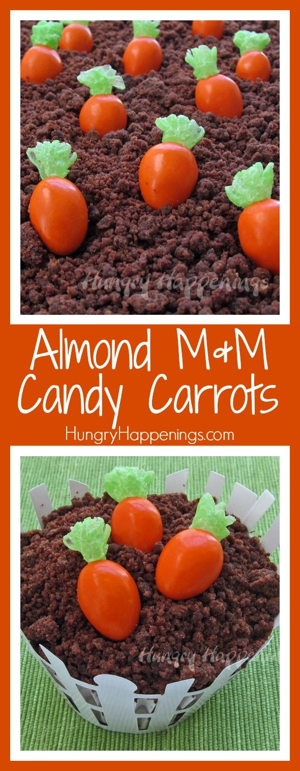The Easter Bunny found the perfect treats to stick into your kids Easter Baskets! These Almond M&M Candy Carrots are simple to make and great gifts to hand out to your family!