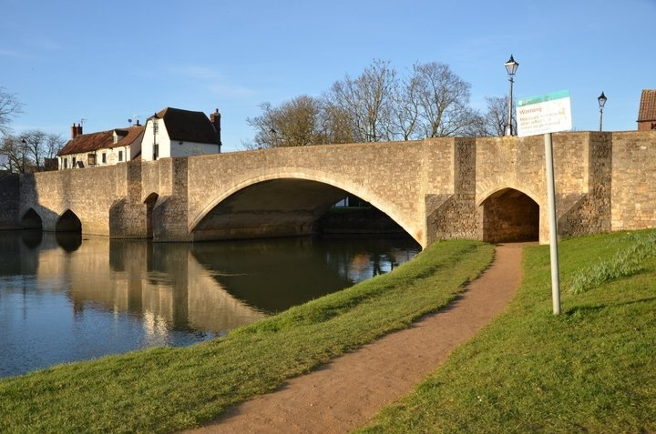 The bridge over Thames River - Abingdon, UK