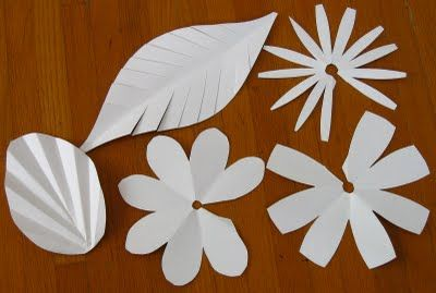 Paper Flowers Details :  wedding tutorial Paper F01