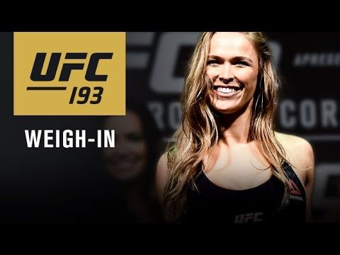 UFC 193 Weigh-In Video & Results: Title Fights Official - http://www.lowkickmma.com/UFC/ufc-193-weigh-in-video-results/