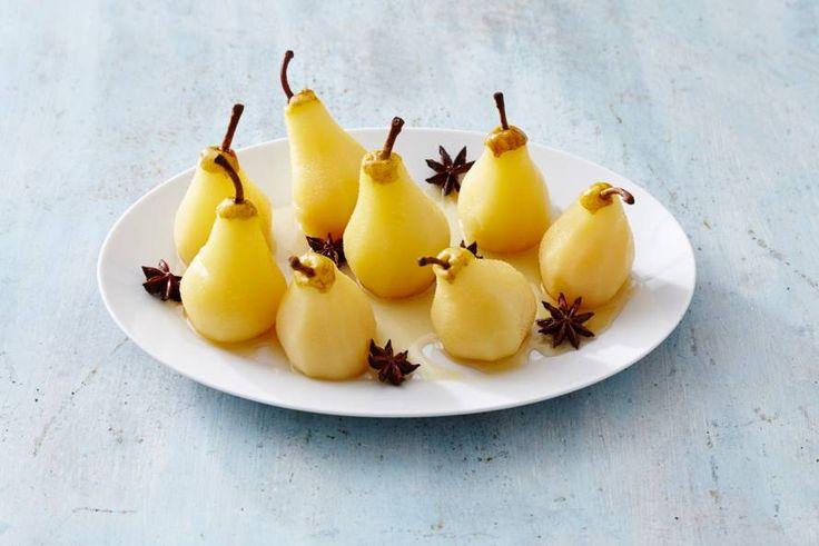 Fris gerecht met peer, citroen, gember en steranijs. - Recept - Allerhande