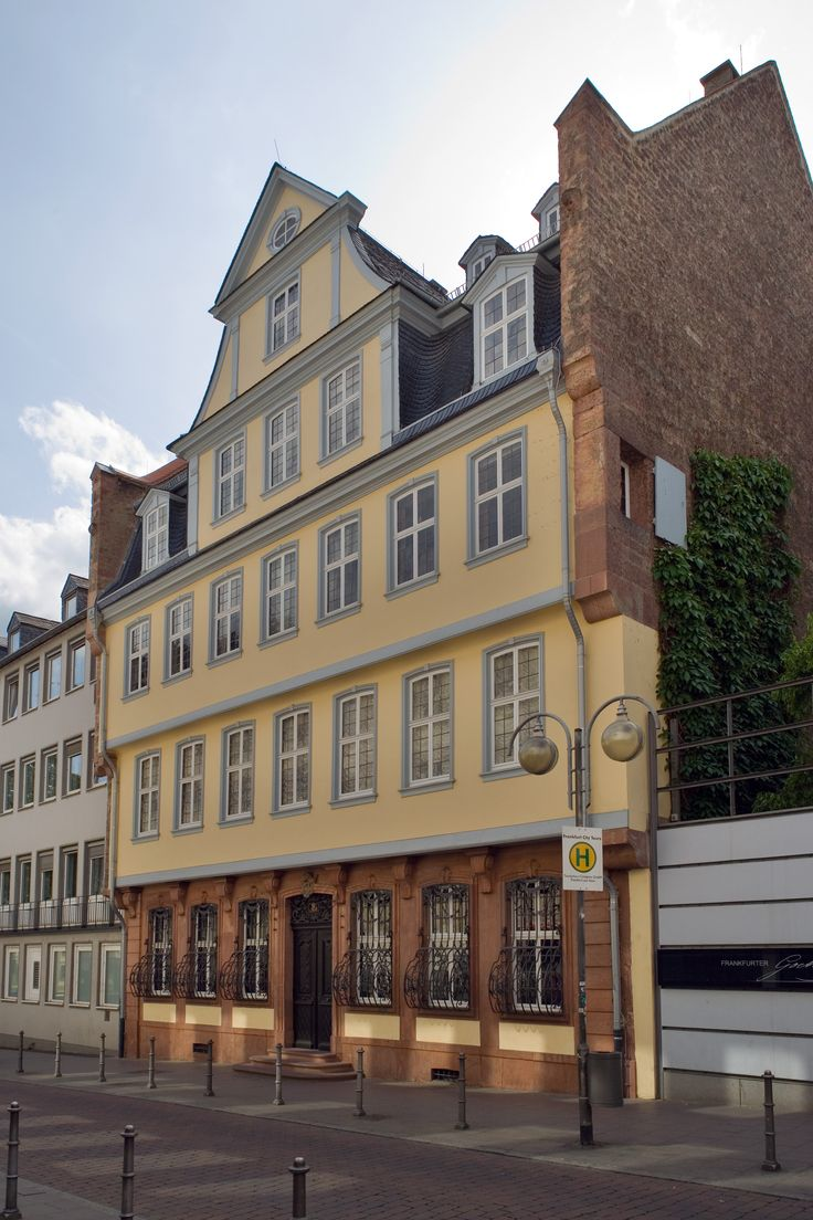 FRANKFURT, GERMANY l Goethe was born in Frankfurt. His birthplace, the Goethe house, is now a museum. #authors_home