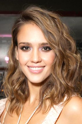 "Jessica Alba hair. ""Ask your stylist for long, playful layers -- nothing too blunt or blocky."" In the morning apply a sea-salt spray to ends, scrunch, and then air-dry."