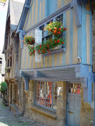 Dinan, Bretagne, France. Dinan is our local town and just a short drive from the holiday cottage.