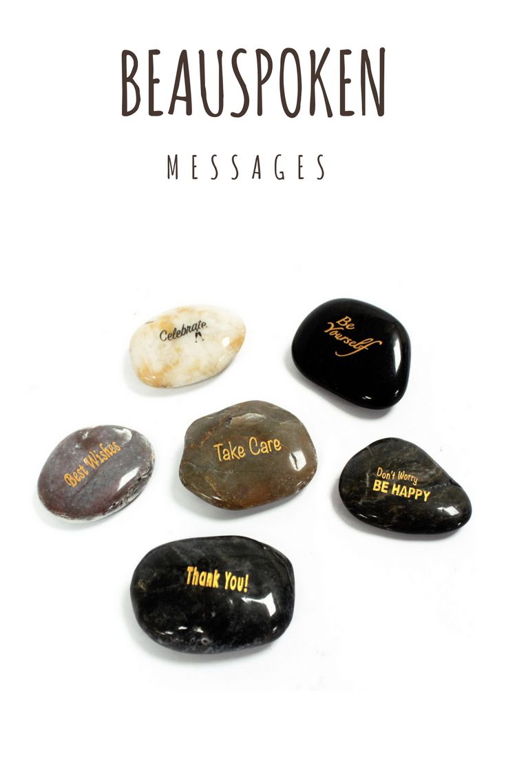 Sometimes its nice to say things in a unique way! Our beautiful Hand painted message stones will give your words that extra touch you've been looking for!