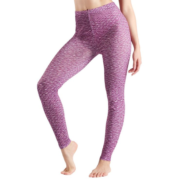Womens Running Pants,Women's High Waist Yoga Leggings,J'colour Ladies  Workout Athletic Cycling Sports Tights,Purple