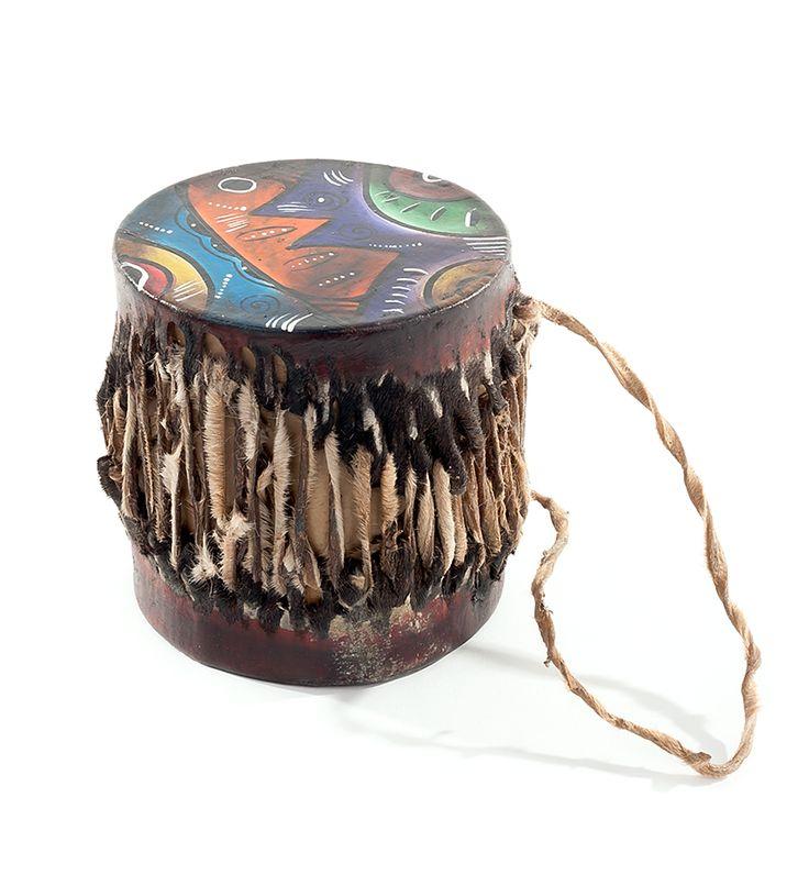 African Tingatinga Bongo Drum