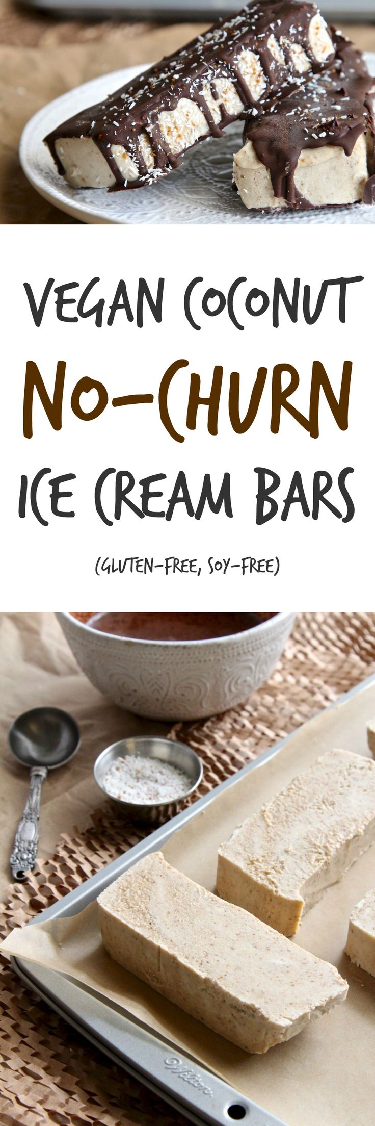 Coconut Caramel No-Churn Ice Cream Bars | Gluten-free, Vegan | The Plant…