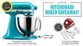 KitchenAid 5-Quart Artisan Series Stand Mixer Giveaway  Open to: United States Canada Ending on: 01/31/2017 Enter for a chance to win a KitchenAid 5-Quart Artisan Series Stand Mixer worth $430 (1st prize) or a KitchenAid 9-Speed Hand Mixer worth $110 (2nd prize). Enter this Giveaway at You Nifty Thing  Enter the KitchenAid 5-Quart Artisan Series Stand Mixer Giveaway on Giveaway Promote.