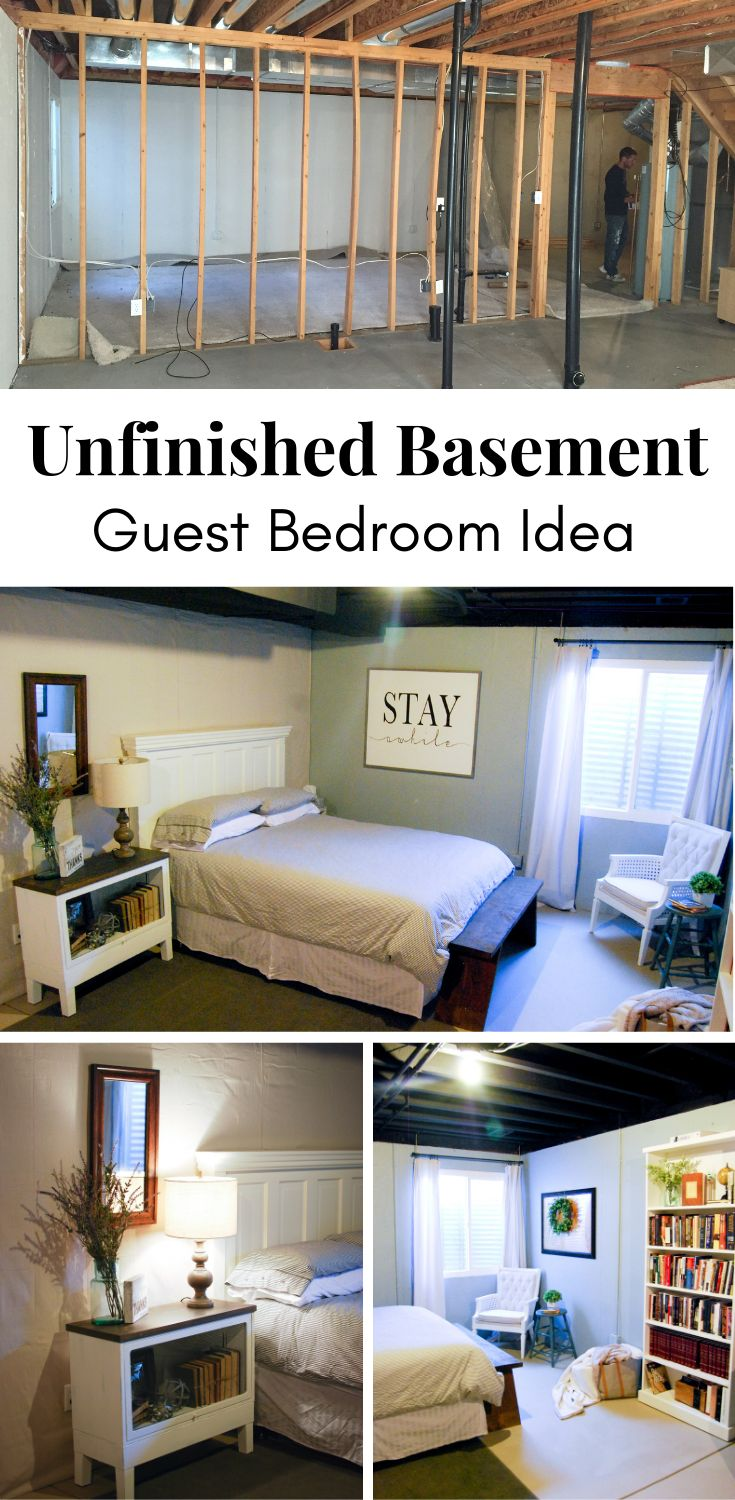 Unfinished Basement Guest Bedroom Emily's Project List