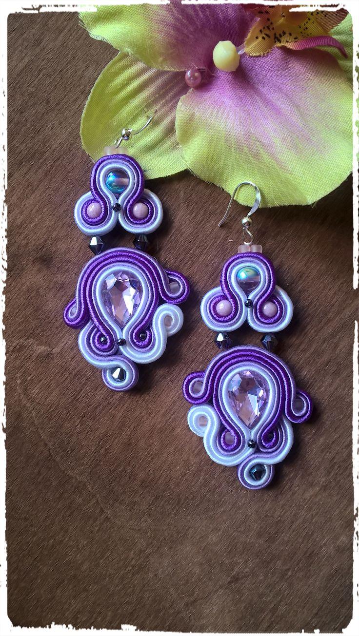 Purple and elegant soutache earrings :-)