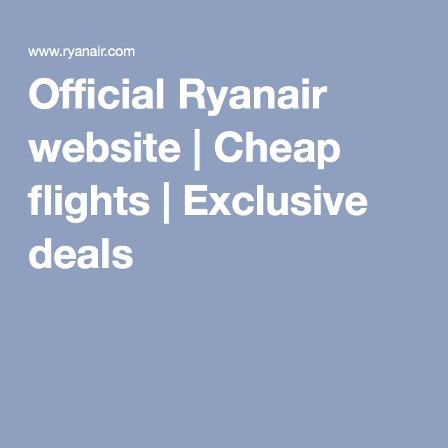 Official ryanair website cheap flights from ireland for Sites with cheap flights