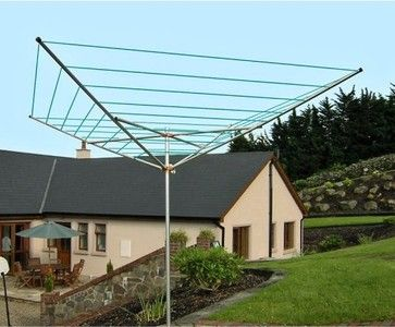 Breezecatcher TS4-140 7-Line Outdoor Umbrella Clothesline contemporary clothesline