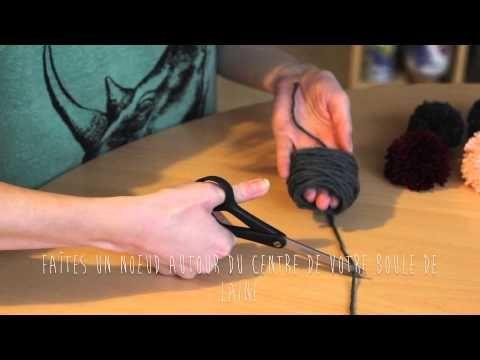 Tuto pompons facile et rapide avec les doigts (sans carton)
