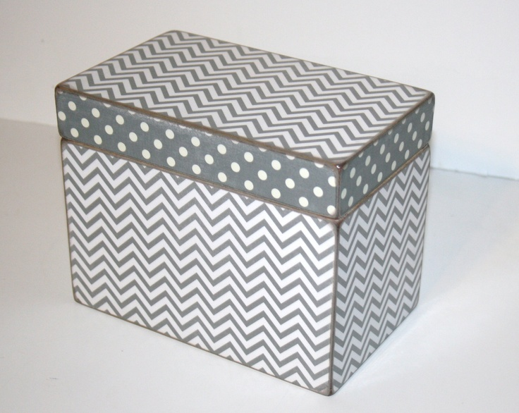 Recipe Box 4x6 4 x 6 Custom  You Design It by TheAdornedAbode, $34.00