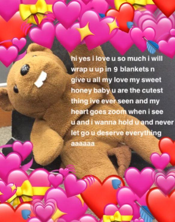 Uwu My Band Stuffed Animal Cute Love Memes Cute Messages Love You Meme