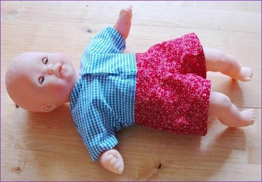 Small 12 Inch Boy Baby Doll Bodysuit