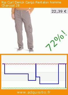 Rip Curl Derick Cargo Pantalon homme Charcoal 28 (Sports Apparel). Réduction de 72%! Prix actuel 22,39 €, l'ancien prix était de 79,95 €. https://www.adquisitio.fr/rip-curl/derick-cargo-pantalon-0