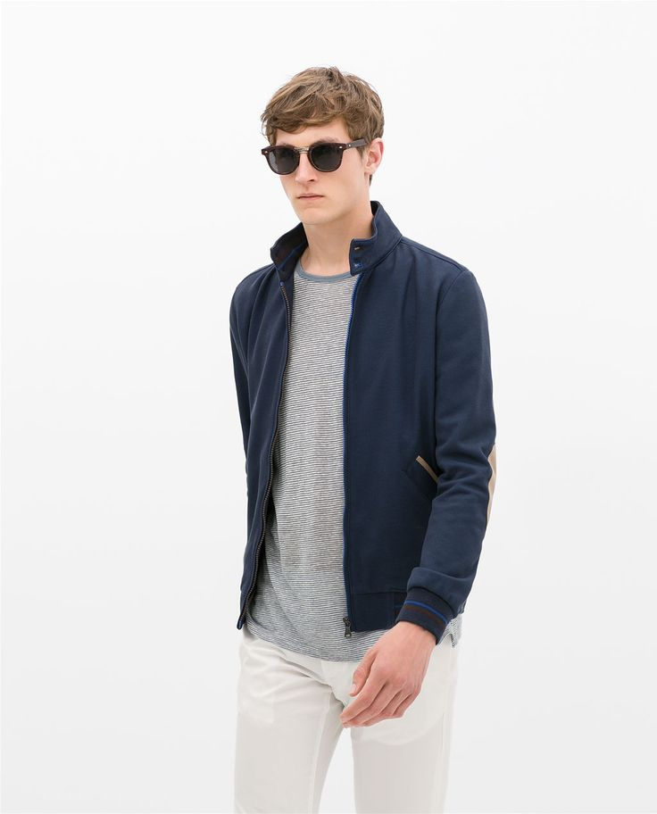 Image 1 of PIQUE JACKET WITH CONTRAST PIPING from Zara