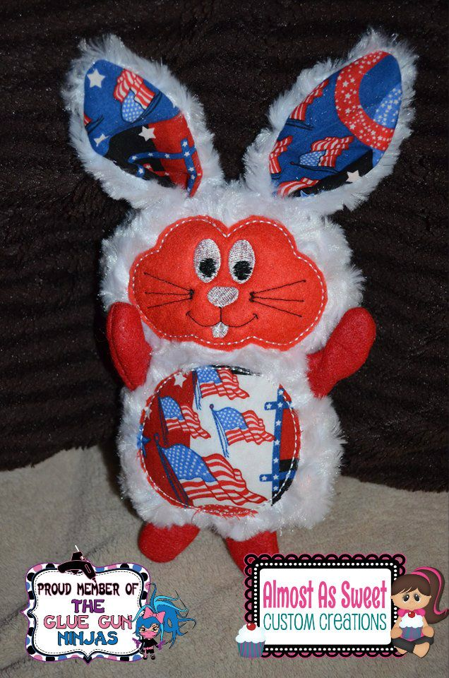 machine embroidery in the hoop stuffed animals