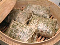 How to make Rice in Lotus Leaf, Sweet Rice in Lotus Leaves, Rice in Lotus Leaf Packets, Lo Mai Gai, Dim Sum recipe