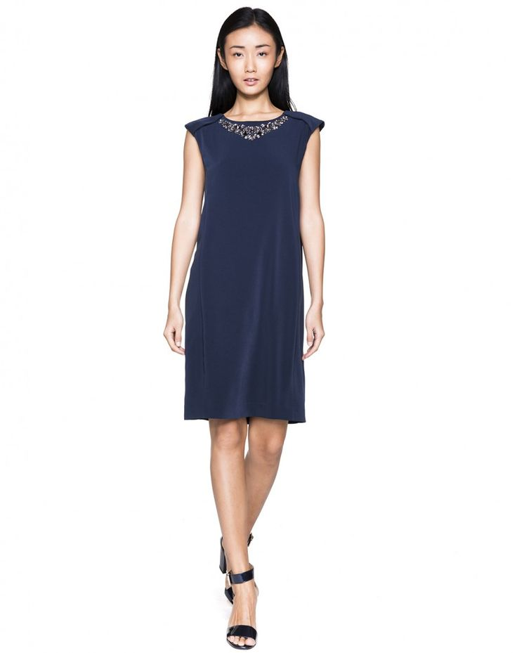 Dress with jewel appliques - DRESSES - WOMAN