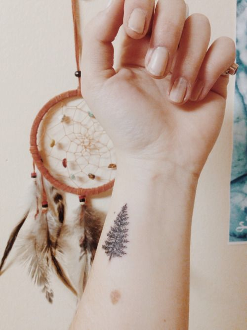 cute small tree tattoo idea
