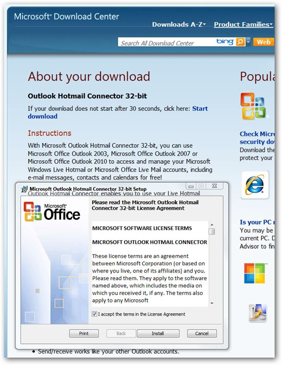 download microsoft office outlook 2010 32 bit