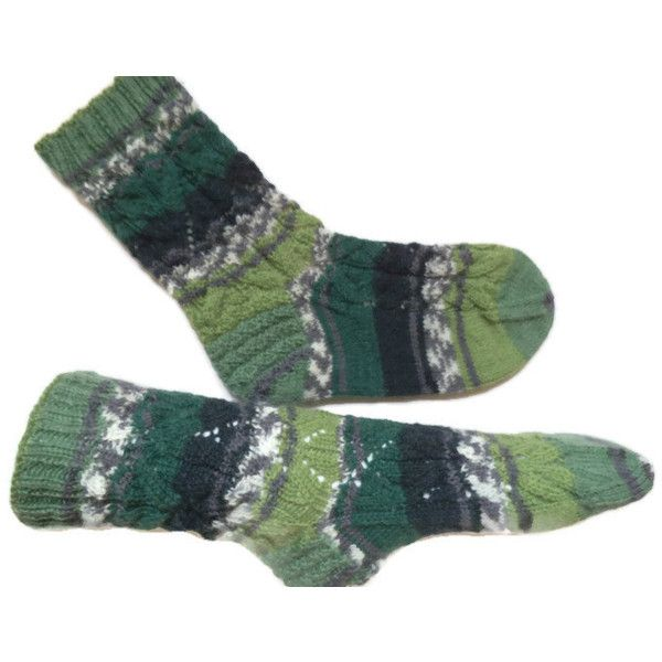 Hand knitted wool socks, men socks, warm men socks, wool men socks,... ($30) ❤ liked on Polyvore featuring men's fashion, men's clothing and men's socks