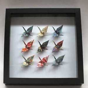 Origami-Wall-Frame-Origami-Cranes-in-frame-Japanese-Origami-Wall-Art