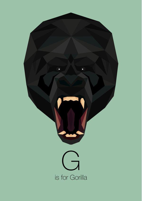 Animal Alphabet by Linn Maria, via Behance