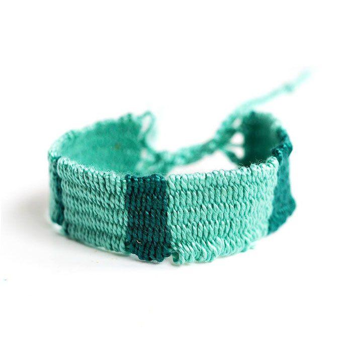 """Weaving bracelet""  Anna Spathari"
