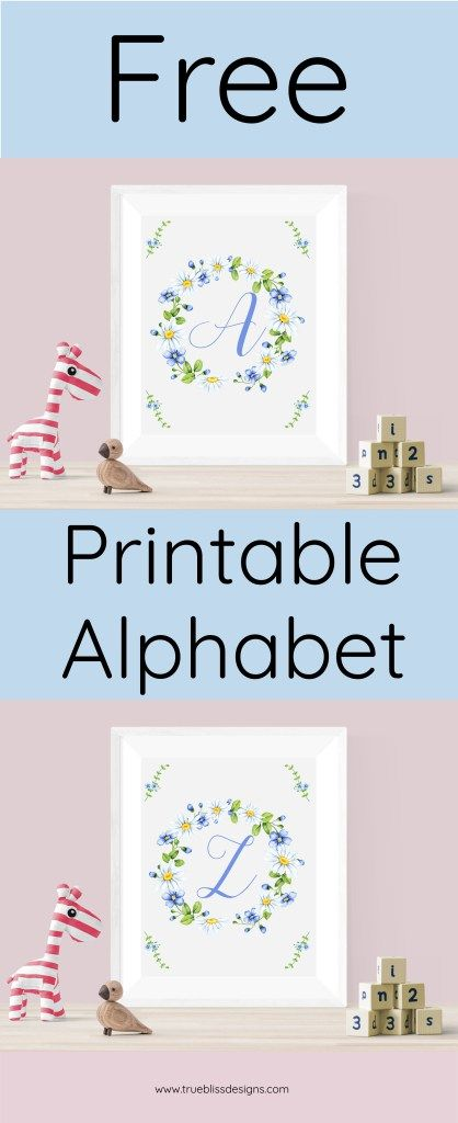 Available now! Grab your set of blue alphabet printables. These letters are ideal as wall art in a kids room or why not use them to decorate a baby shower. The prints are designed with beautiful delicate blue and white flowers using a distinctive font. Click today to download your free printable and bring a touch of style to your home décor.