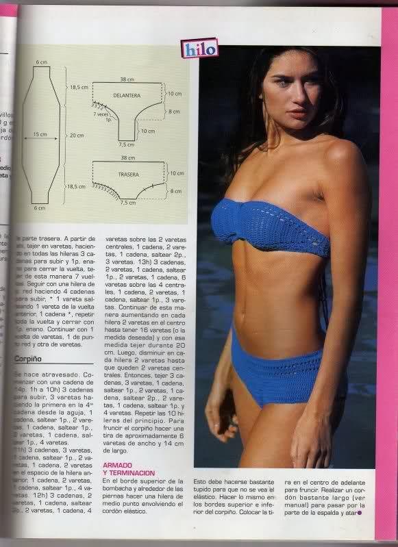 TRICO y CROCHET-madona-mía: Bikinis y bañadores (triquinis) a crochet con patrones