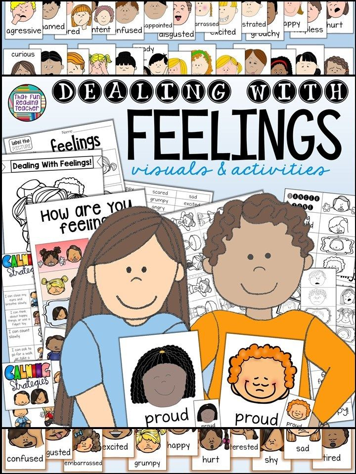Feelings posters, calming cards and strips, activities, printables and more! $ #TpT #feelings #visuals #feelingseducation #socialskills #socialemotional #emotionalliteracy #emotionalregulation #communication #classroommanagement #dealingwithfeelings #dwf #selfregulation #softskills #schoolcouncellor #specialeducation