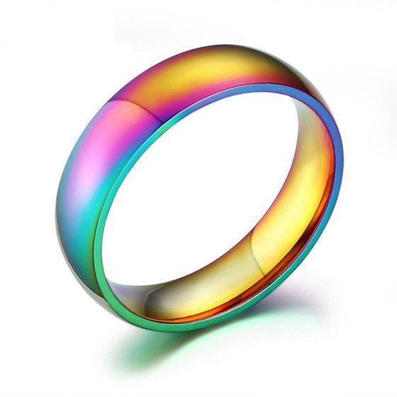 Anello multicolore in titanio